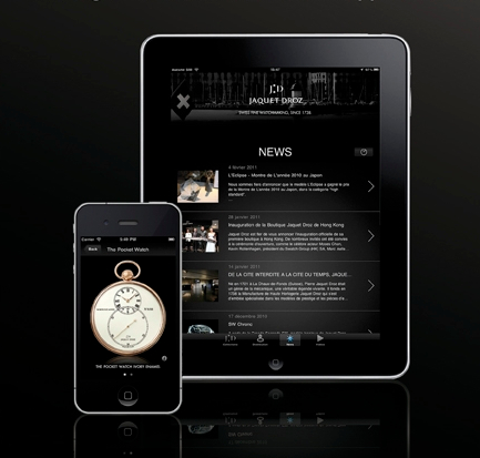 Jaquet Droz iPhone and iPad app